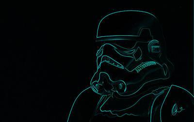 Chewey Digital Art - Stormtrooper In Teal by Chris Thomas