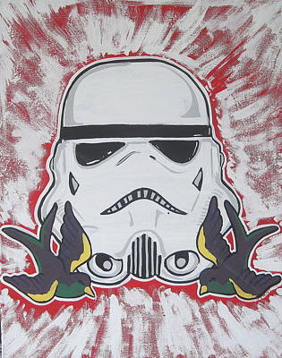 Stormtrooper Tattoo Art Art Print by Gary Niles