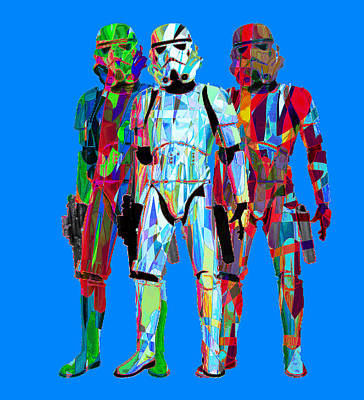 Montreal Streets Mixed Media - Stormtroopers 4 Fashion by G Knight