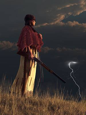 Digital Art - Stormwatcher by Daniel Eskridge
