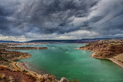 Photograph - Stormy Abiquiu Lake by Lou  Novick