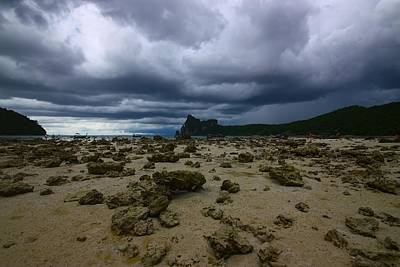 Doomsday Photograph - Stormy Beach by FireFlux Studios
