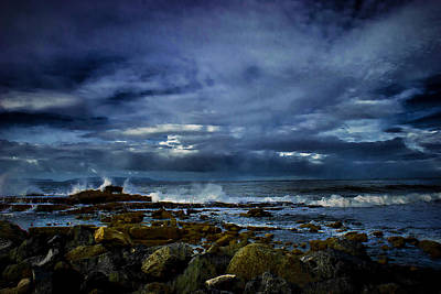 Art Print featuring the photograph Stormy Beach by Joseph Hollingsworth