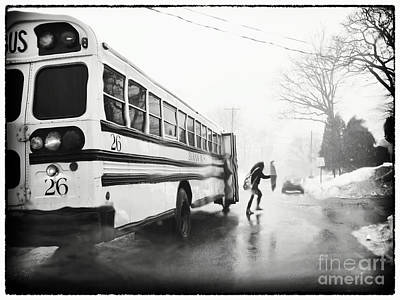 Photograph - Stormy Bus Stop by Mark Miller