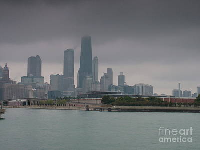 Not Your Everyday Rainbow - Stormy Chicago by Mark Bowden