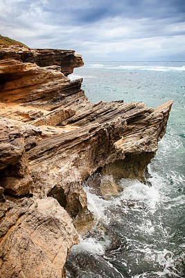 Photograph - Stormy Cliffs 5 by Tim Newton