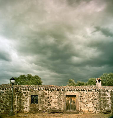 Bowing Photograph - Stormy Clouds Over Ancient Building by Dirk Ercken