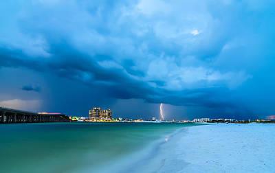 Target Threshold Photography - Stormy Clouds Over Destin Florida by Alex Grichenko