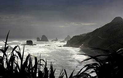 Impressionist Landscapes - Stormy Coast New Zealand by Amanda Stadther