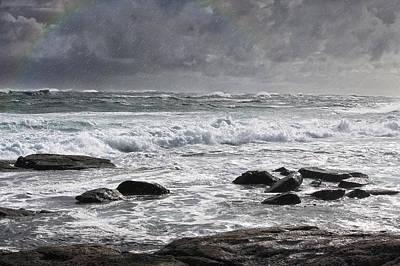 Stormy Coast Art Print by Niel Morley