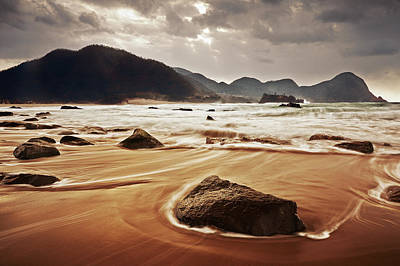Photograph - Stormy Coast by Seiji Nakai