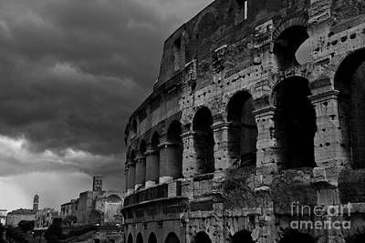 Photograph - Stormy Colosseum by James Lavott