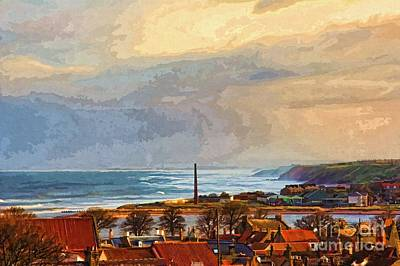 Stormy Day At Berwick - Photo Art Art Print