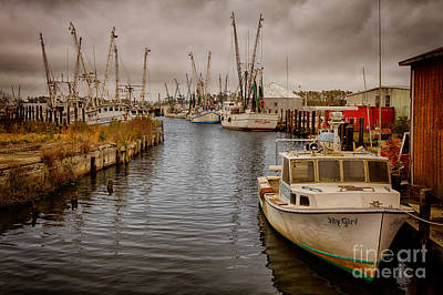 Stormy Day At Englehard - Outer Banks I Art Print by Dan Carmichael