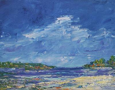 Painting - Stormy Day At Picnic Island by Gail Kent