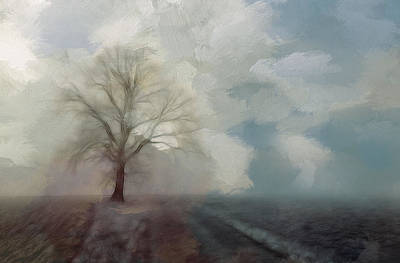 Windy Drawing - Stormy Day by Steve K