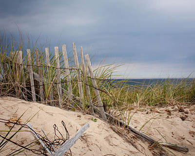 Photograph - Stormy Cape Cod Dune by Brian Caldwell