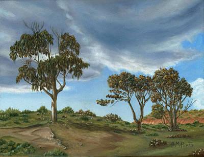 Stormy Eucalyptus Art Print by Angeles M Pomata