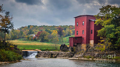 Photograph - Stormy Fall At Dillard Mill by Julie Clements