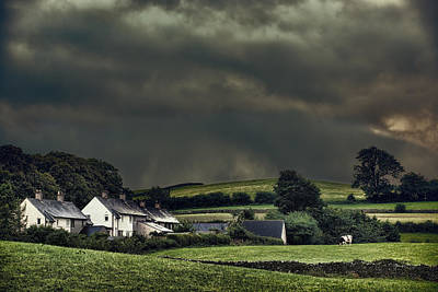 Dry Stone Wall Photograph - Stormy Hamlet by Amanda Elwell