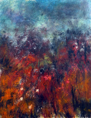 Indecision Painting - Stormy Landscape by Katie Black