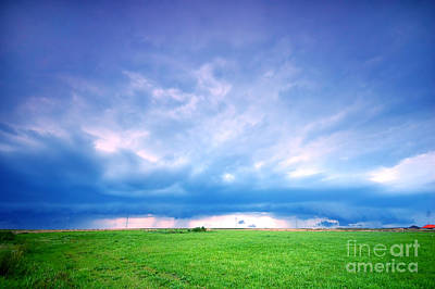 Backgrounds Photograph - Stormy Landscape by Michal Bednarek