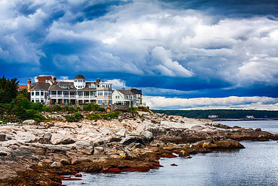 Photograph - Stormy Maine Coast by Fred Larson