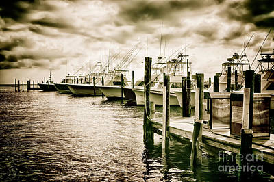 Oregon Inlet Photograph - Stormy Marina On The Outer Banks by Dan Carmichael