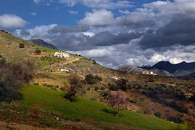 Stormy Mediterranean Landscape Art Print
