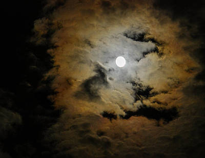 Photograph - Stormy Moon by Amy Porter