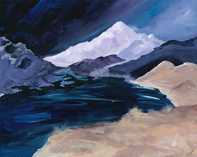 Digital Art - Stormy Mountain by Jennifer Galbraith