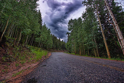 Colorado Springs Photograph - Stormy Mountain Road by Thomas Zimmerman