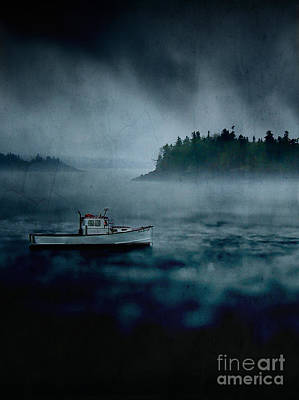 Stormy Night Off The Coast Of Maine Art Print by Edward Fielding