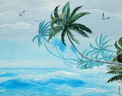 Painting - Stormy Palms by Chris McCullough