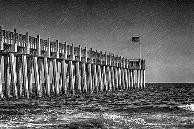 Photograph - Stormy Pier by Sennie Pierson