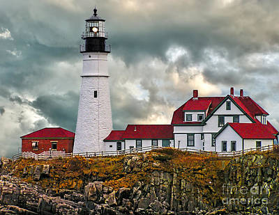 Photograph - Stormy Portland Head Light by Nick Zelinsky