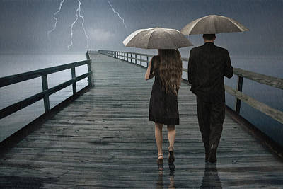 Photograph - Stormy Relationship by Randall Nyhof