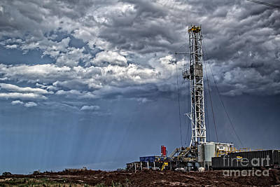 Photograph - Stormy Rig by Jim McCain