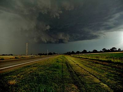 Photograph - Stormy Road Ahead by Ed Sweeney