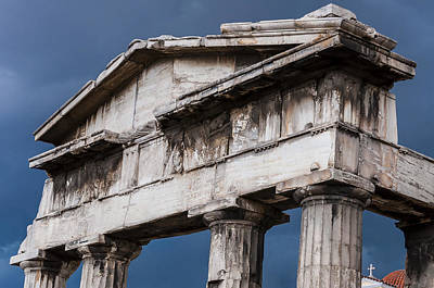 Material Photograph - Stormy Rome In Greece by Yevgeni Kacnelson