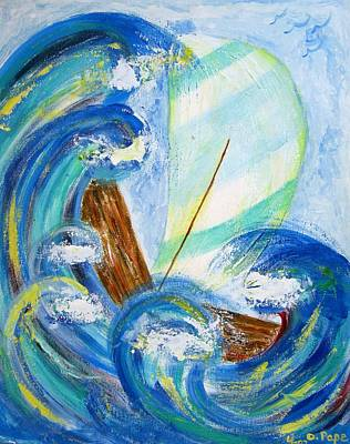 Stormy Sails Art Print by Diane Pape