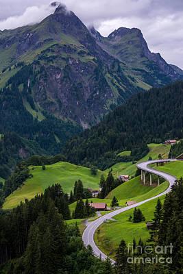 Vorarlberg Photograph - Stormy Village Of Schrocken - Austrian Alps  by Gary Whitton