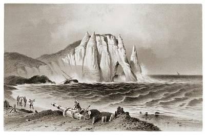 Turbulence Wall Art - Photograph - Stormy Sea At Etretat by David Parker/science Photo Library