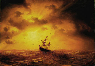 Larson Painting - Stormy Sea by Marcus Larson