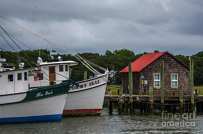 Photograph - Stormy Seas Shem Creek by Dale Powell