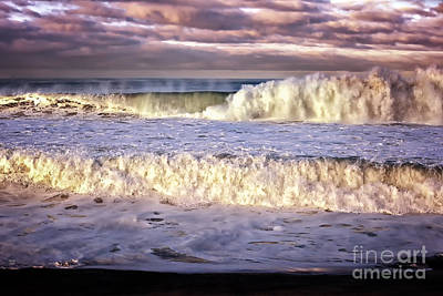 Photograph - Stormy Seas At Sunrise by David Millenheft