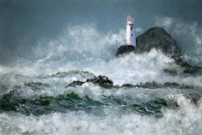 Digital Art - Stormy Seas by Michael Malicoat