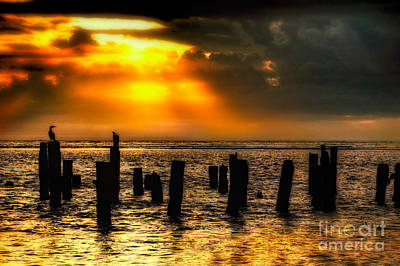 Stormy Skies At Sunrise Outer Banks Print by Dan Carmichael
