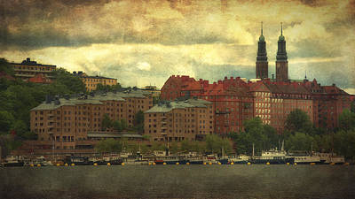 Photograph - Stormy Skies - Central Stockholm - Sweden by Photography  By Sai