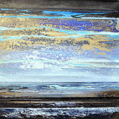 Mixed Media - Stormy Skies Hauxley Haven No1 by Mike   Bell